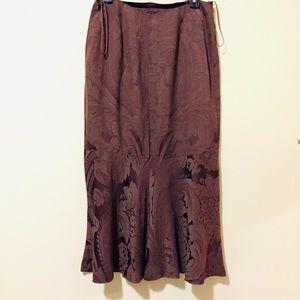 Ralph Lauren Brown MIDI Skirt.